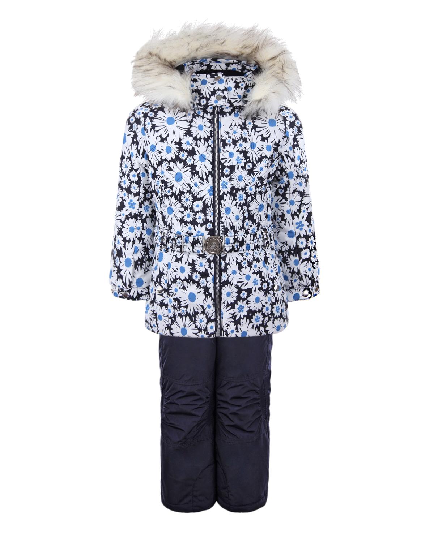 Зимний комплект из куртки и полукомбинезона для девочек Poivre Blanc детский