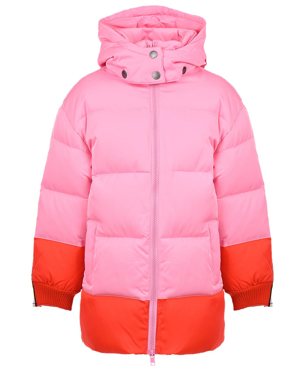 Купить Удлиненная куртка с лампасами на рукавах Stella McCartney детская, Розовый, 100%полиэстер