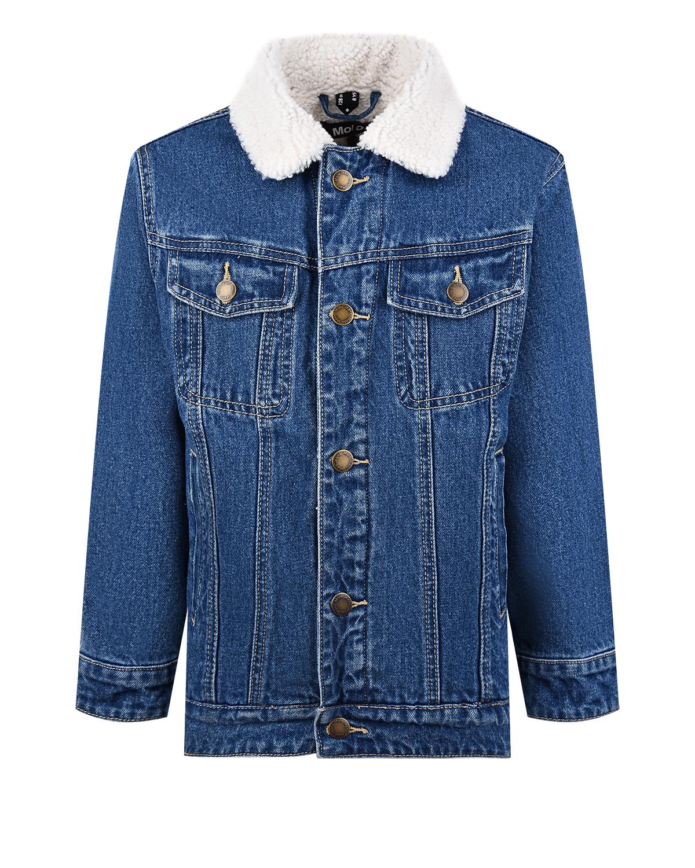 Купить Утепленная джинсовая куртка Molo детская, Синий, 100%хлопок, 100%полиэстер