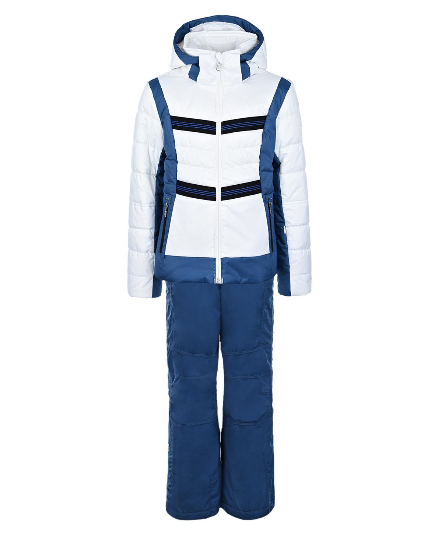 Бело-синий горнолыжный комплект для девочек Poivre Blanc детское