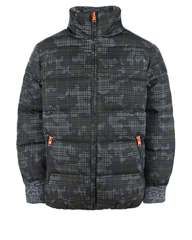 Купить Стеганая камуфляжная куртка Stella McCartney детская, Хаки, 100%полиэстер, 97%полиэстер+3%эластан