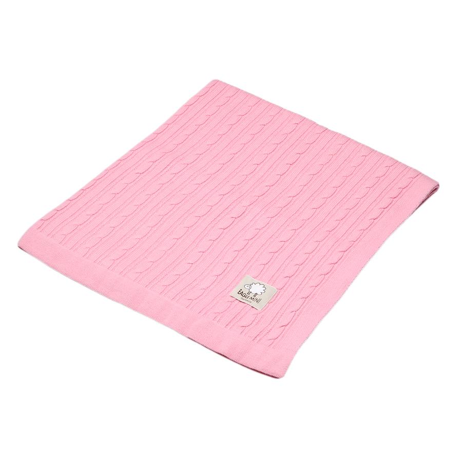 Плед Eagle Max розовый, якорная цепь, 100% шерсть, 75*100см