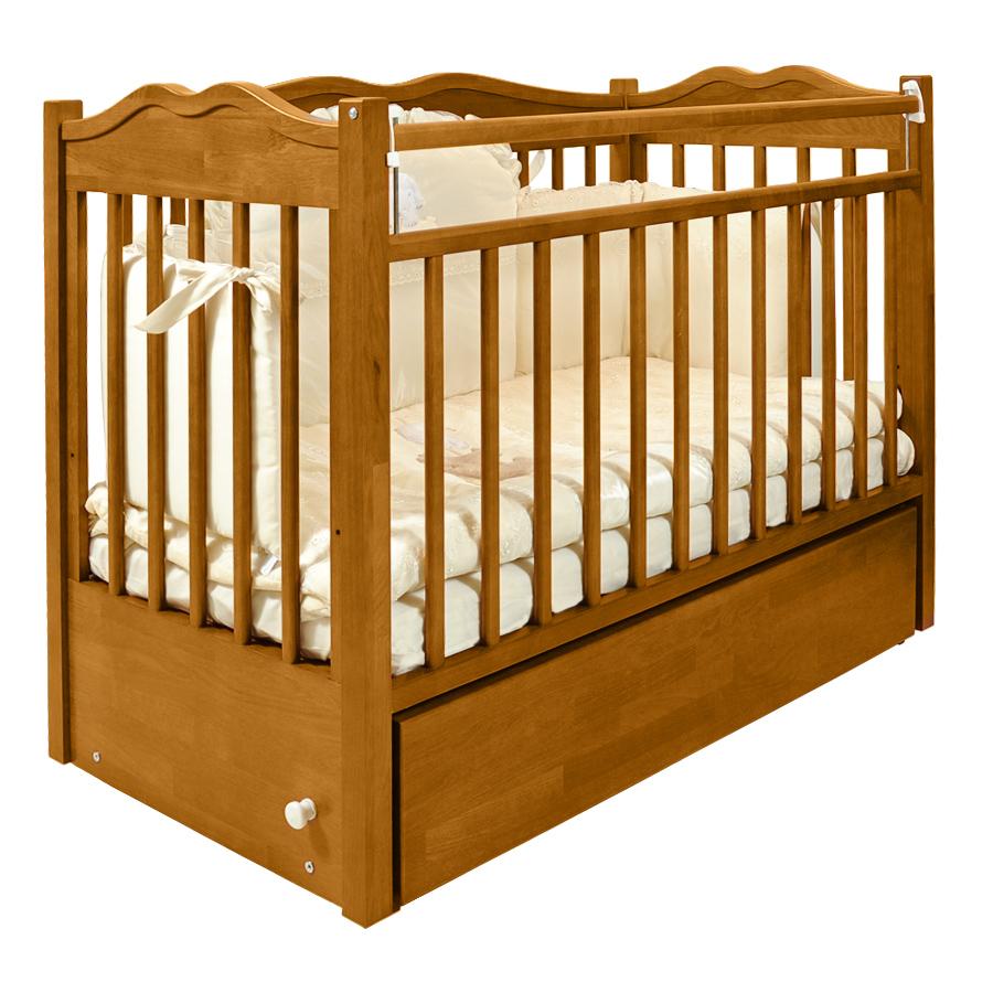 Кроватка для новорождённого из массива дуба Jan&Sofie