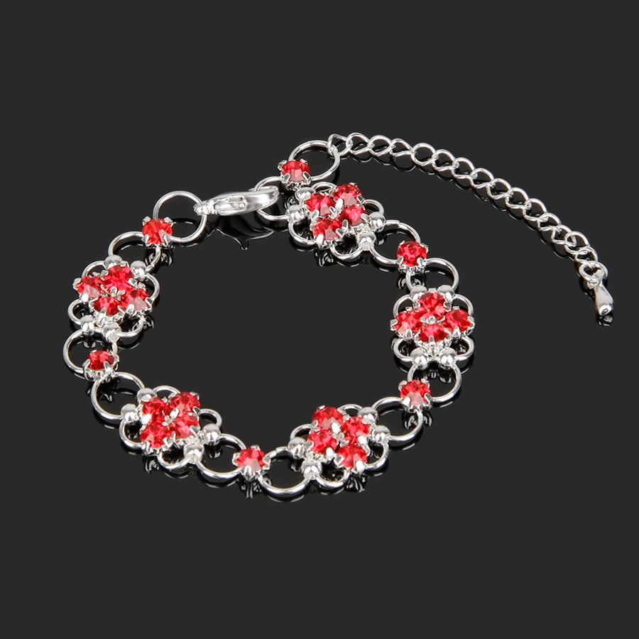 Браслет Junefee красные цветы