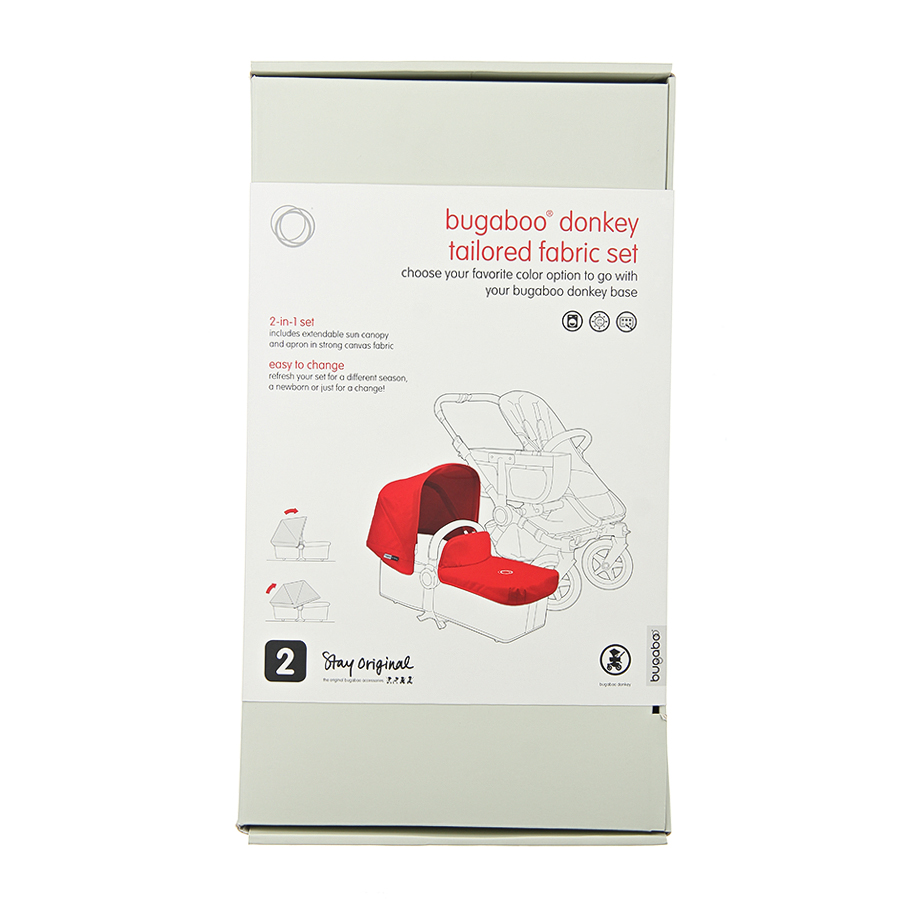 Комплект сменный тканевый (капюшон + фартук на люльку) Bugaboo Donkey Petrol BlueКоляски 2 в 1<br><br>