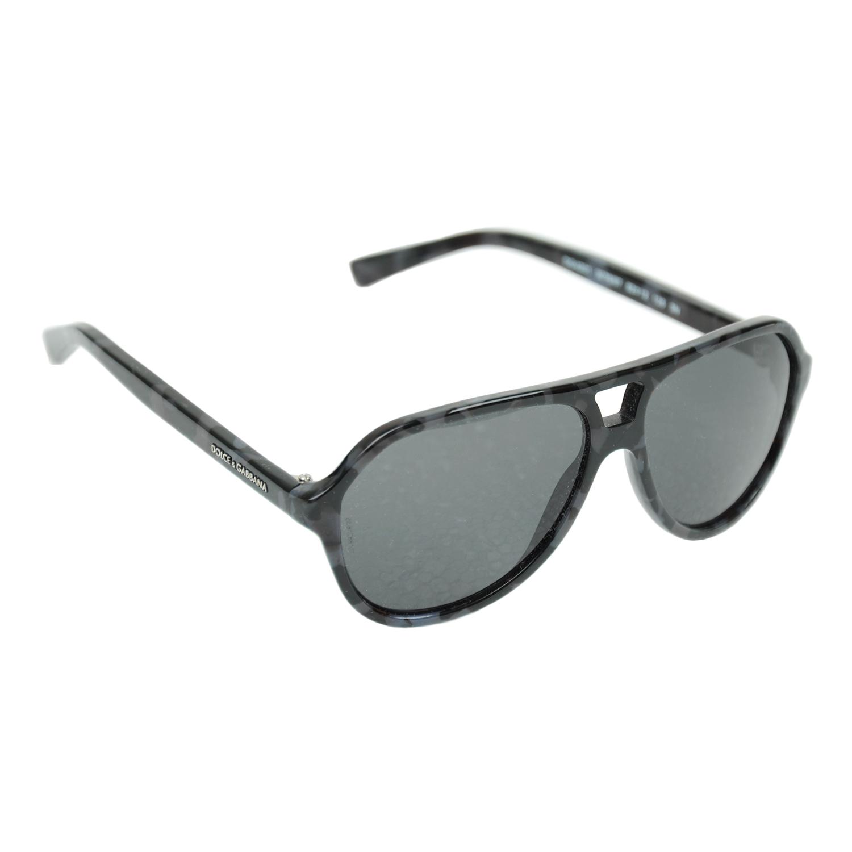 Очки Dolce&Gabbana солнцезащитные, черно-серые