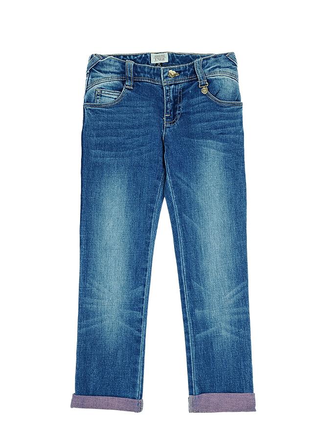 Брюки джинсовые Armani для девочекДжинсы<br><br>