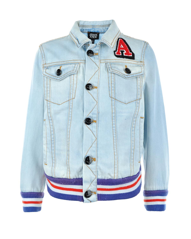 Куртка джинсовая Armani для мальчиковВерхняя одежда<br><br>