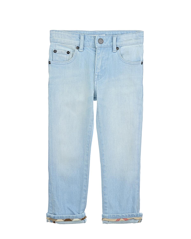 Брюки джинсовые Burberry для мальчиковДжинсы<br><br>