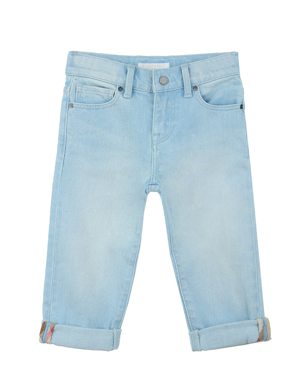 Брюки джинсовые Burberry для девочекДжинсы<br><br>