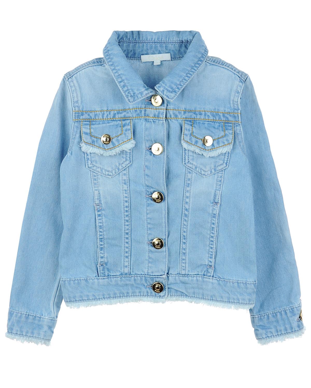 Куртка джинсовая Chloe для девочекВерхняя одежда<br><br>