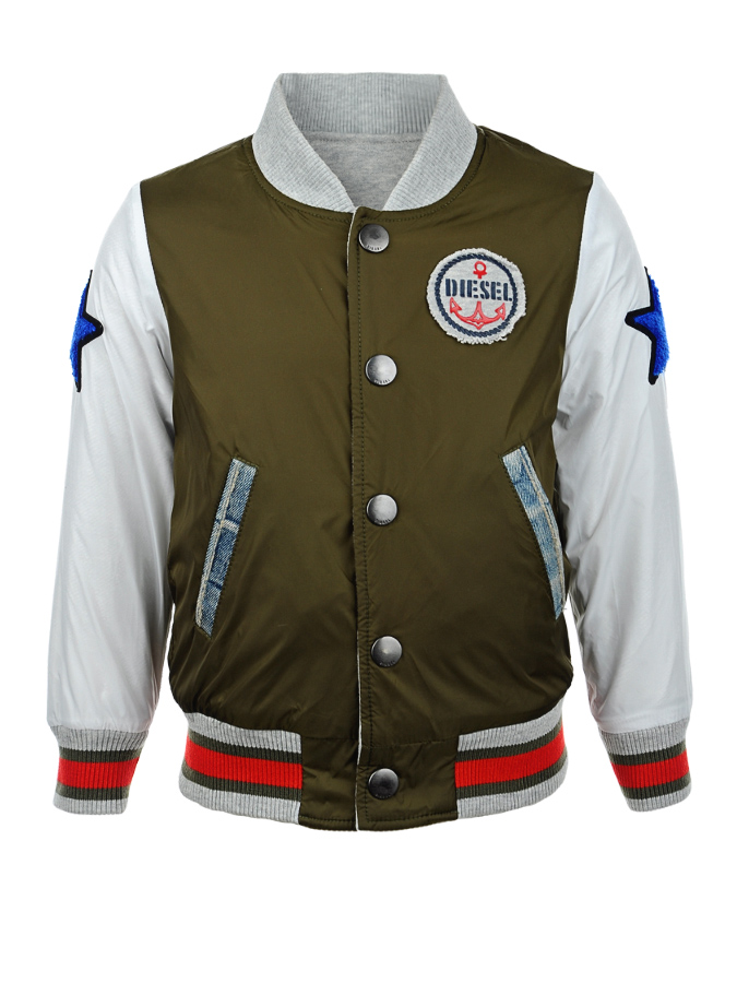 Куртка-бомбер Diesel для мальчиковКуртки демисезонные<br><br>