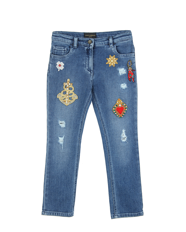 Брюки джинсовые Dolce&Gabbana для девочек