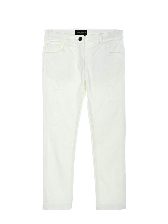 Брюки джинсовые Dolce&amp;Gabbana для девочекОдежда<br><br>