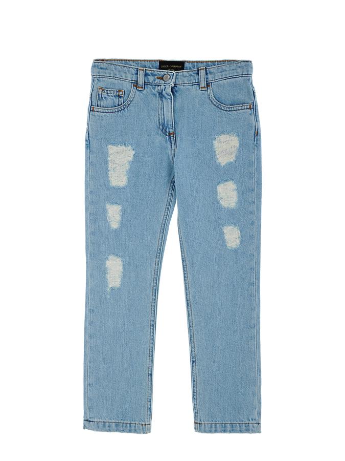 Брюки джинсовые Dolce&amp;Gabbana для девочекДжинсы<br><br>
