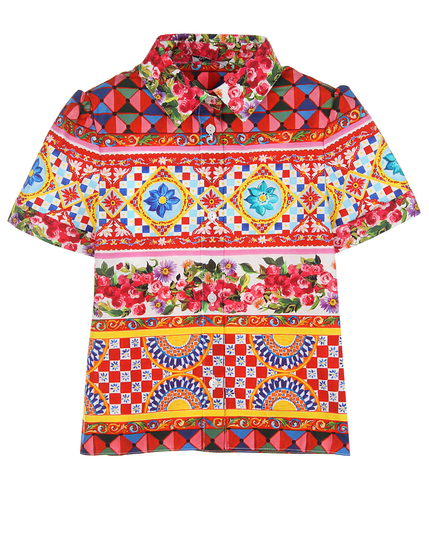 Рубашка Dolce&amp;Gabbana для девочекОдежда<br><br>