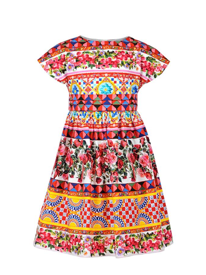 Платье Dolce&amp;Gabbana для девочекОдежда<br><br>