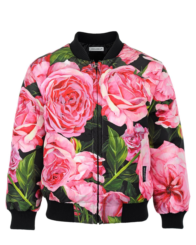 Куртка-бомбер Dolce&amp;Gabbana для девочекВерхняя одежда<br><br>