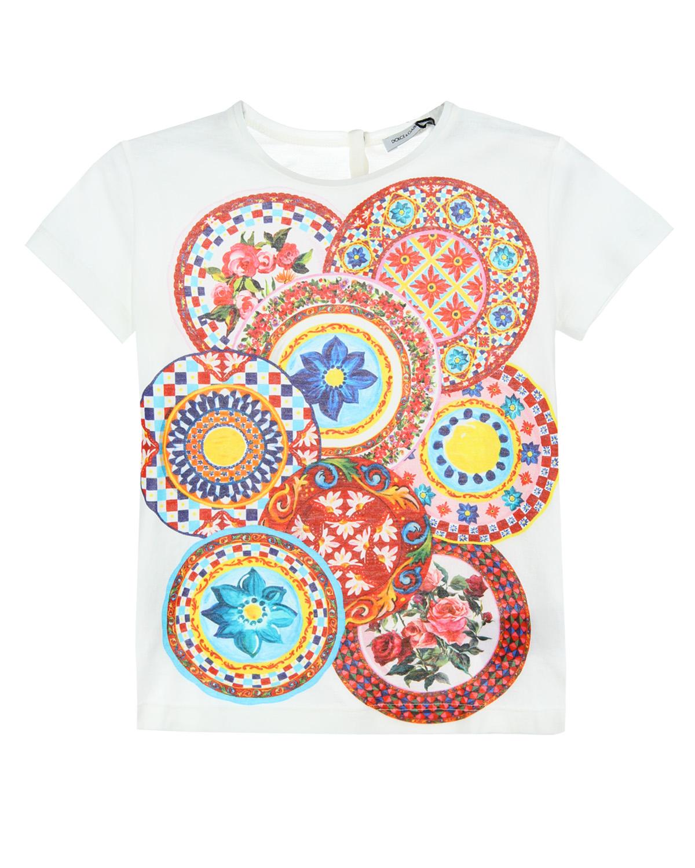 Футболка Dolce&amp;Gabbana для девочекФутболки, Топы, Майки<br><br>