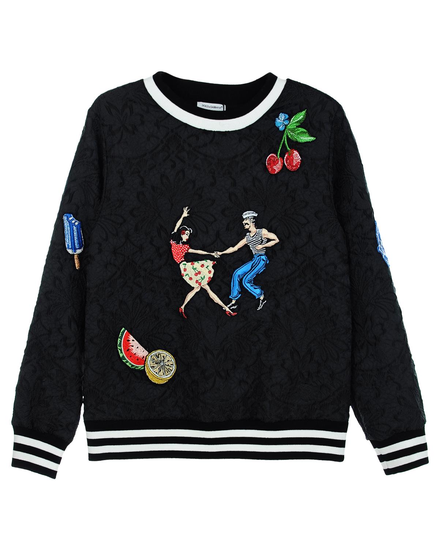 Толстовка Dolce&amp;Gabbana для девочекТолстовки, Свитшоты<br><br>