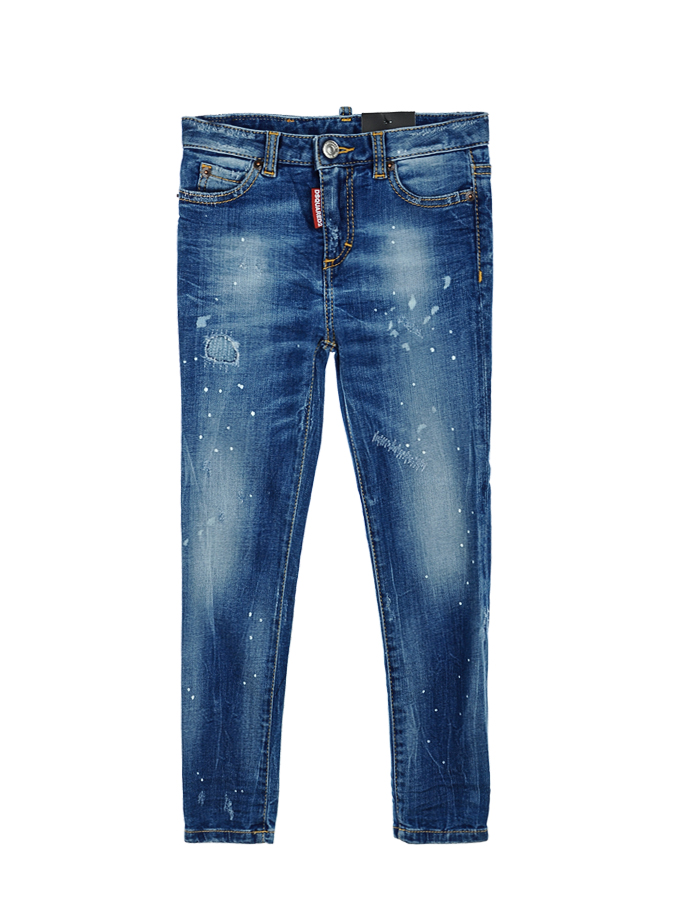 Брюки джинсовые Dsquared2 для девочекДжинсы<br><br>