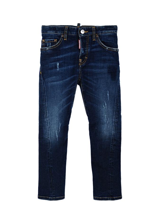 Брюки джинсовые Dsquared2 для мальчиковОдежда<br><br>