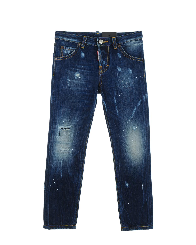 Брюки джинсовые Dsquared2 для девочекОдежда<br><br>