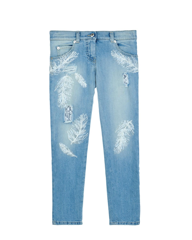 Брюки джинсовые Ermanno Scervino для девочек