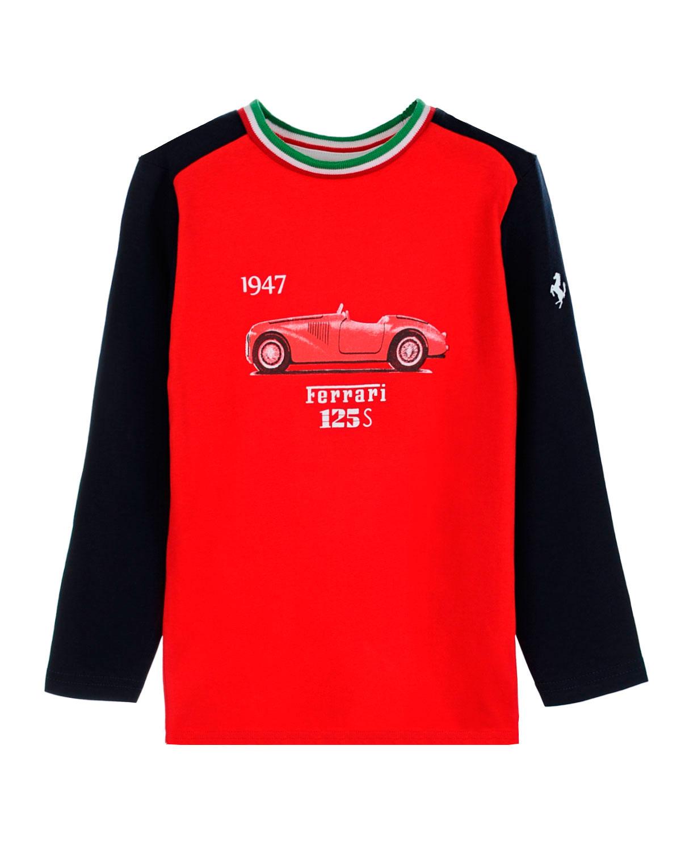Толстовка Ferrari для мальчиковТолстовки, Свитшоты<br><br>