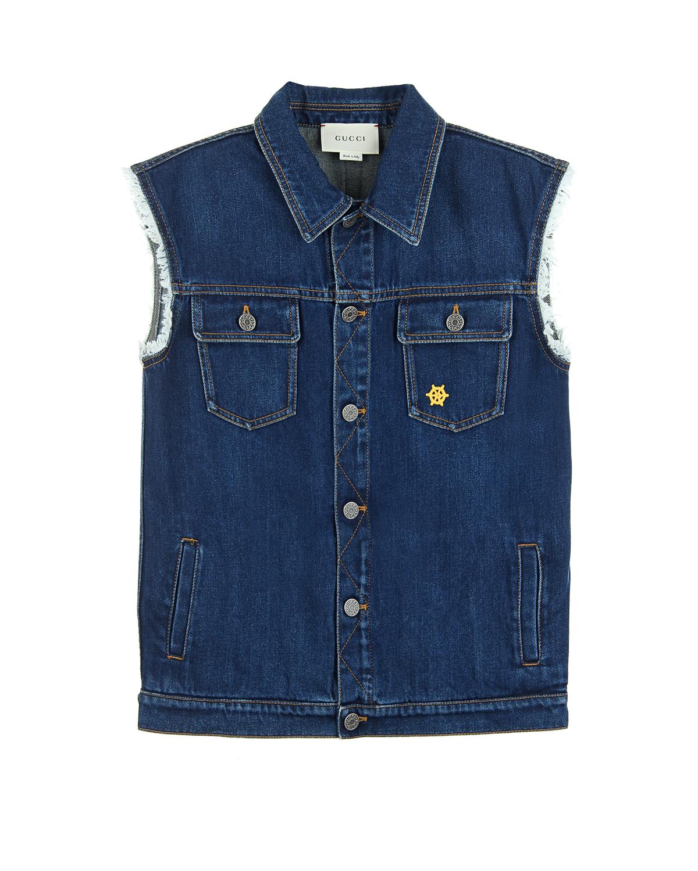Жилет Gucci для мальчиковДжинсовые куртки и жилеты<br><br>