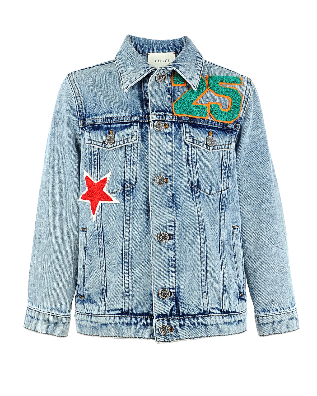 Куртка джинсовая Gucci для мальчиковДжинсовые куртки и жилеты<br><br>