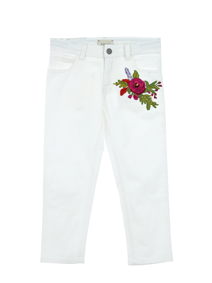 Брюки джинсовые Gucci для девочекОдежда<br><br>