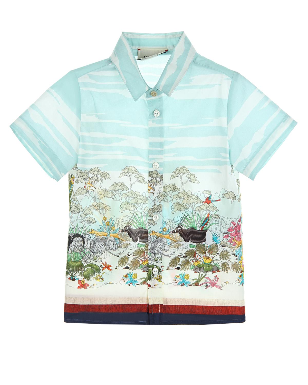 Рубашка Gucci для малышейОдежда<br><br>