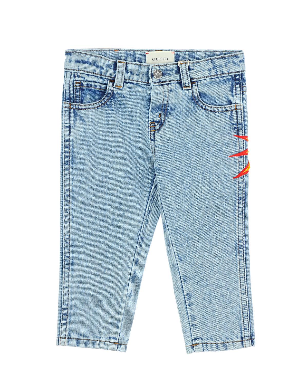 Брюки джинсовые Gucci для малышейДжинсы<br><br>