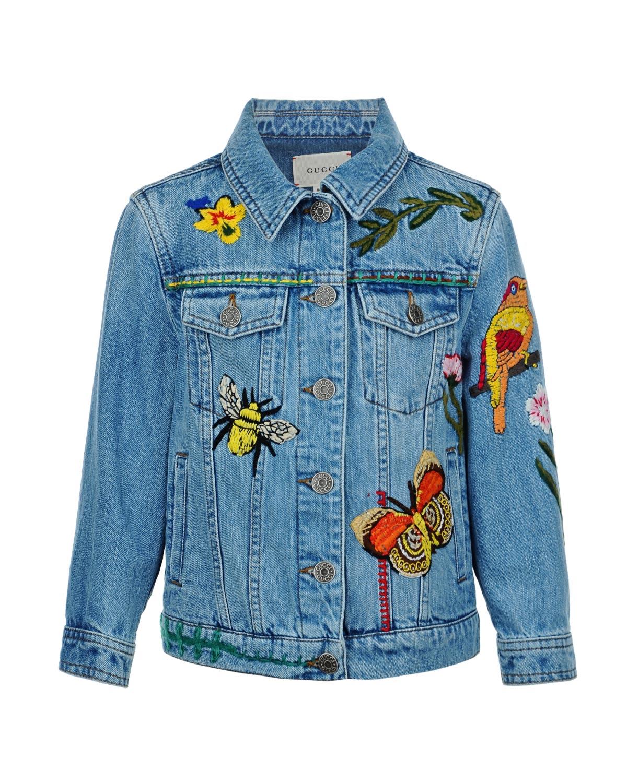 Куртка джинсовая Gucci для девочек
