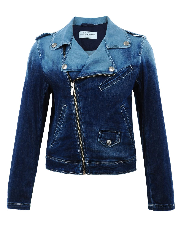 Куртка джинсовая John Galliano для девочекДжинсовые куртки и жилеты<br><br>