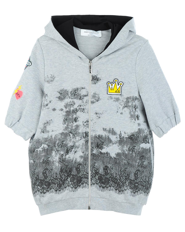 Куртка трикотаж John Galliano для девочекКардиганы, Кофты<br><br>