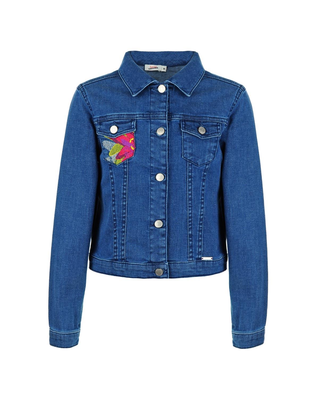 Куртка джинсовая Junior Gaultier для девочекДжинсовые куртки и жилеты<br><br>