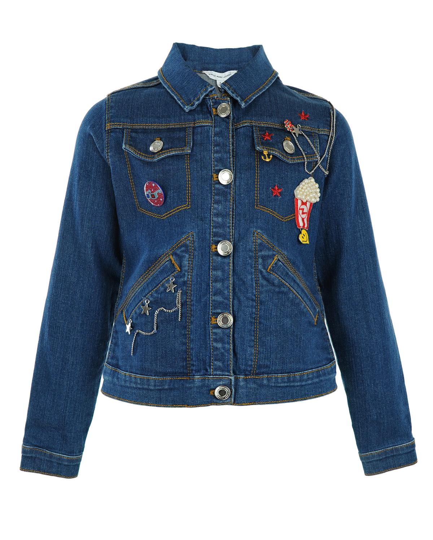 Куртка джинсовая Little Marc Jacobs для девочекВерхняя одежда<br><br>