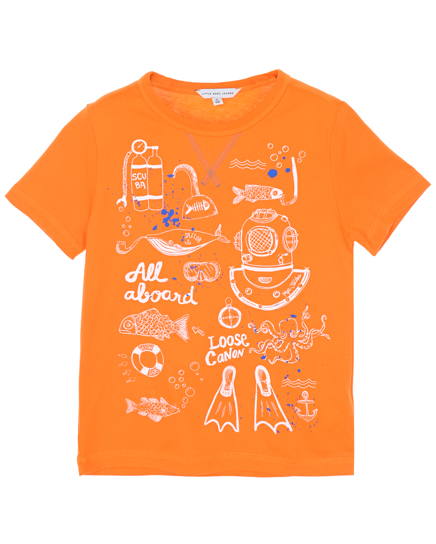 Футболка Little Marc Jacobs для мальчиковФутболки, Майки, Поло<br><br>