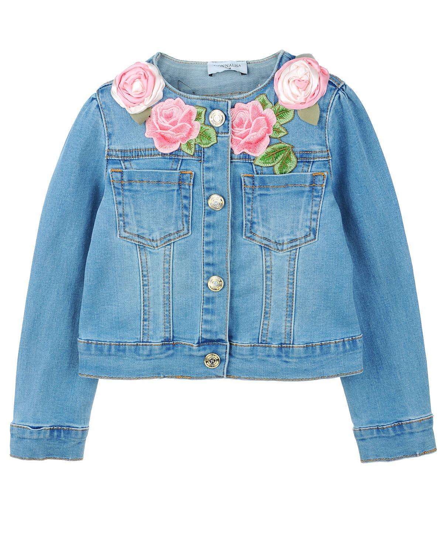 Куртка джинсовая Monnalisa для девочек