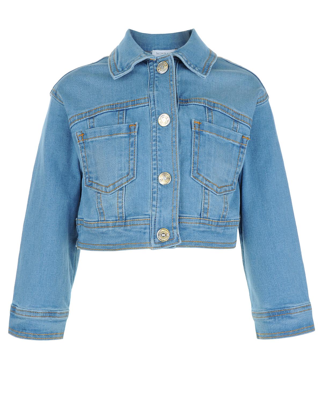 Куртка джинсовая Monnalisa для девочекВерхняя одежда<br><br>