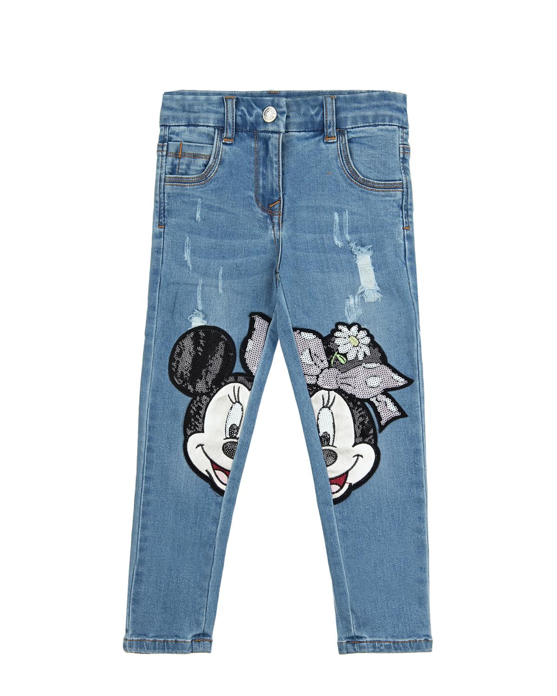 Брюки джинсовые Monnalisa для девочек