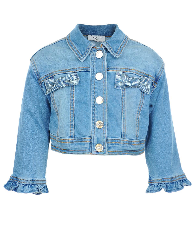 Куртка джинсовая MonnaLisa Bebe для малышейКуртки демисезонные<br><br>