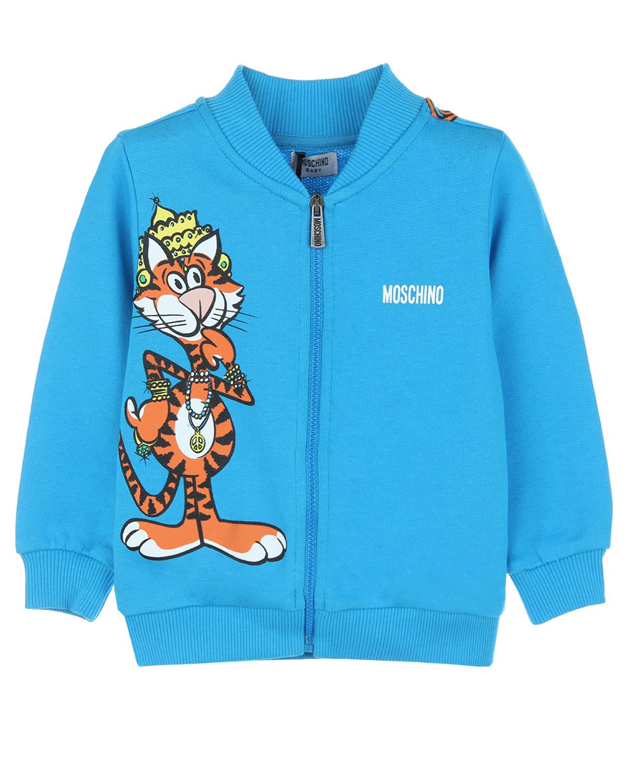 Куртка спортивная Moschino для малышейОдежда<br><br>