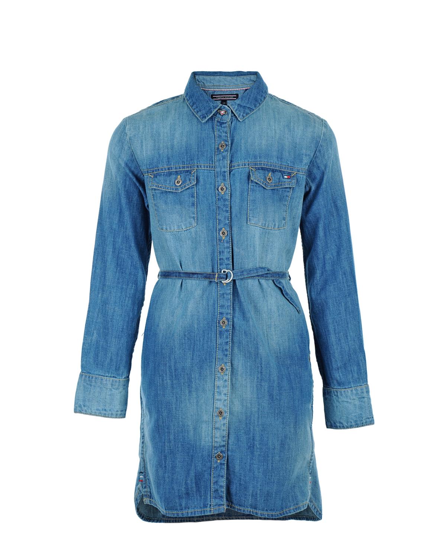 Платье Tommy Hilfiger для девочекОдежда<br><br>