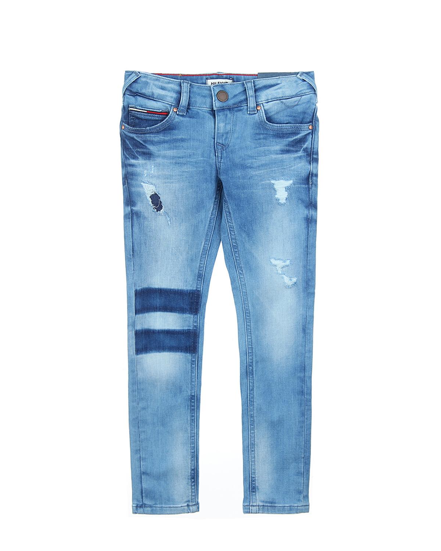Брюки джинсовые Tommy Hilfiger для девочекДжинсы<br><br>