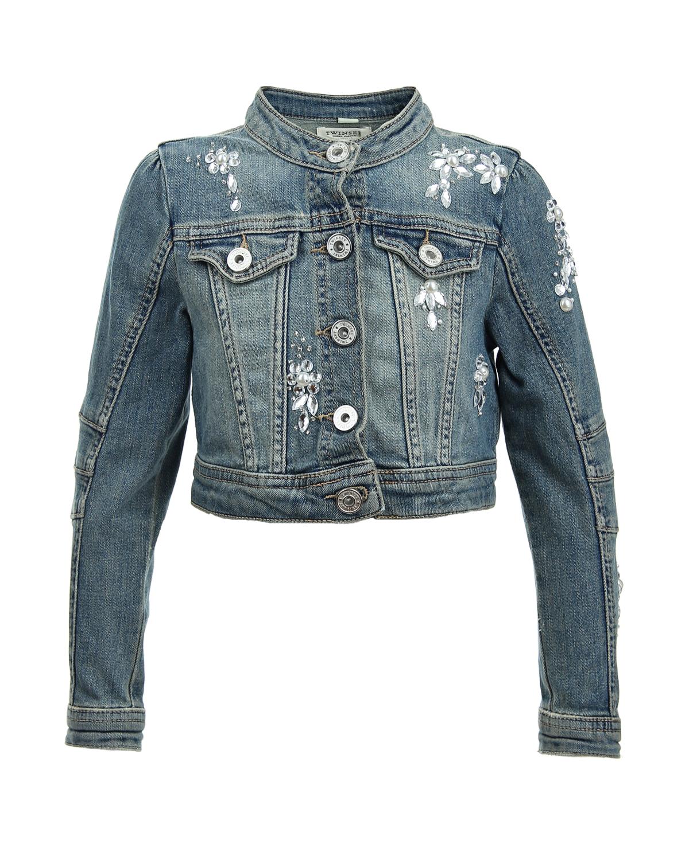 Куртка джинсовая Twin Set для девочекВерхняя одежда<br><br>