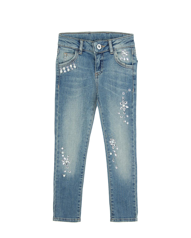 Брюки джинсовые Twin Set для девочекДжинсы<br><br>