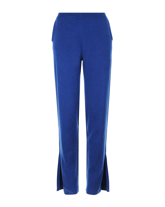 Купить Синие брюки из кашемира с разрезами, Allude